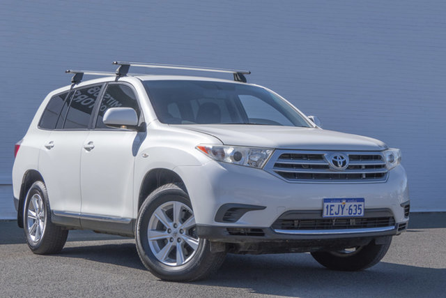 Used Toyota Kluger GSU45R MY12 KX-R AWD Bunbury, 2013 Toyota Kluger GSU45R MY12 KX-R AWD White 5 Speed Sports Automatic Wagon