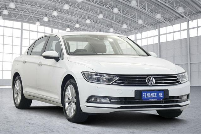 Used Volkswagen Passat 3C (B8) MY18 132TSI DSG Comfortline Victoria Park, 2018 Volkswagen Passat 3C (B8) MY18 132TSI DSG Comfortline Pure White 7 Speed