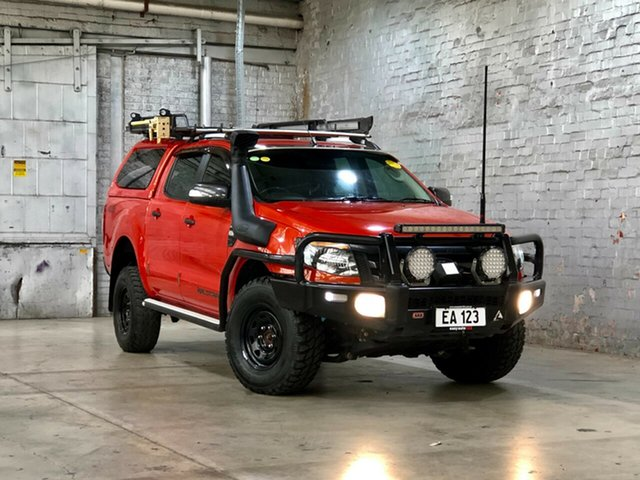 Used Ford Ranger PX Wildtrak Double Cab Mile End South, 2013 Ford Ranger PX Wildtrak Double Cab Orange 6 Speed Sports Automatic Utility