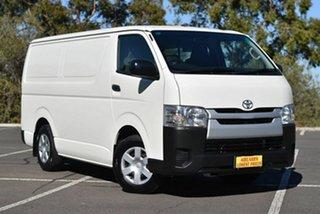 2015 Toyota HiAce TRH201R LWB White 5 Speed Manual Van.