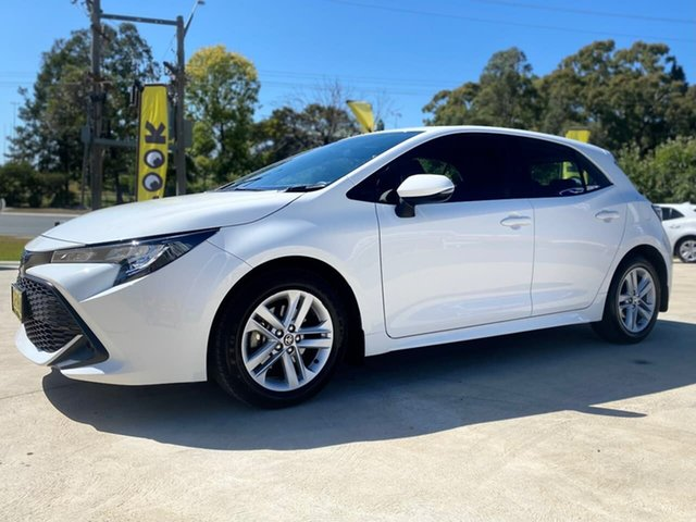 Used Toyota Corolla Mzea12R Ascent Sport Goulburn, 2018 Toyota Corolla Mzea12R Ascent Sport White Constant Variable Hatchback