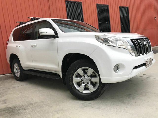 Used Toyota Landcruiser Prado KDJ150R MY14 GXL Molendinar, 2015 Toyota Landcruiser Prado KDJ150R MY14 GXL White 5 Speed Sports Automatic Wagon