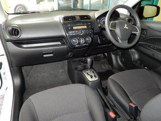 2017 Mitsubishi Mirage LA MY17 ES White Continuous Variable Hatchback.