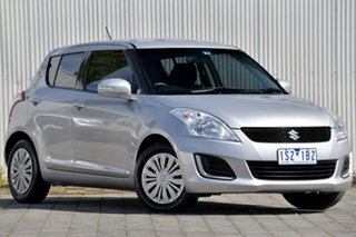 2015 Suzuki Swift FZ MY15 GL Silver, Chrome 5 Speed Manual Hatchback.