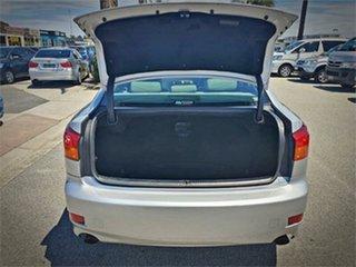 2008 Lexus IS GSE20R IS250 Prestige Silver Sports Automatic Sedan