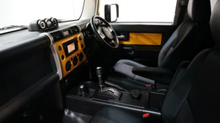2012 Toyota FJ Cruiser GSJ15R Yellow & White 5 Speed Automatic Wagon