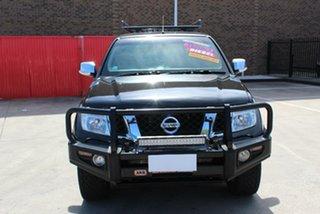 2014 Nissan Navara D40 MY12 ST-X 550 (4x4) Black 7 Speed Automatic Dual Cab Utility.