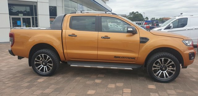 Used Ford Ranger PX MkIII 2019.00MY Wildtrak Warwick Farm, 2019 Ford Ranger PX MkIII 2019.00MY Wildtrak Saber 10 Speed Sports Automatic Double Cab Pick Up