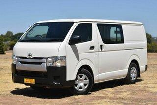 2016 Toyota HiAce TRH201R LWB White 5 Speed Manual Van.