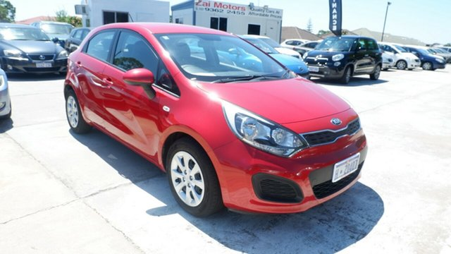 Used Kia Rio UB MY13 S St James, 2013 Kia Rio UB MY13 S Red 6 Speed Manual Hatchback