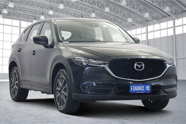 Used Mazda CX-5 KF4WLA GT SKYACTIV-Drive i-ACTIV AWD Victoria Park, 2018 Mazda CX-5 KF4WLA GT SKYACTIV-Drive i-ACTIV AWD Black 6 Speed Sports Automatic Wagon