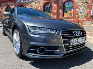2016 Audi A7 4G MY16 Bi-Turbo Sportback Tiptronic Quattro S Line Grey 8 Speed Sports Automatic.