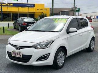 2013 Hyundai i20 PB Active White 4 Speed Automatic Hatchback.