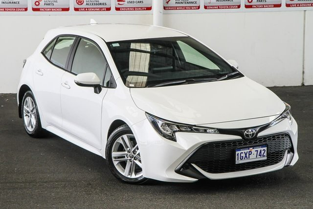 Pre-Owned Toyota Corolla Mzea12R Ascent Sport Myaree, 2019 Toyota Corolla Mzea12R Ascent Sport Glacier White 10 Speed Constant Variable Hatchback