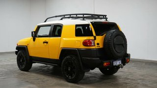 2012 Toyota FJ Cruiser GSJ15R Yellow & White 5 Speed Automatic Wagon.
