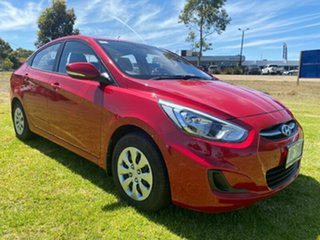 2016 Hyundai Accent RB3 MY16 Active Veloster Red 6 Speed Constant Variable Sedan.