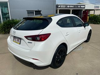 2018 Mazda 3 White Automatic Hatchback.