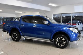 2016 Mitsubishi Triton MQ MY16 Exceed Double Cab Blue 5 Speed Sports Automatic Utility.