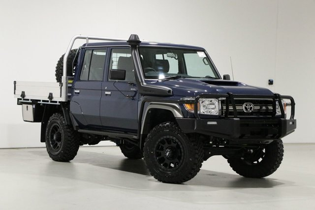 Used Toyota Landcruiser VDJ79R GXL (4x4) Bentley, 2020 Toyota Landcruiser VDJ79R GXL (4x4) Blue 5 Speed Manual Double Cab Chassis
