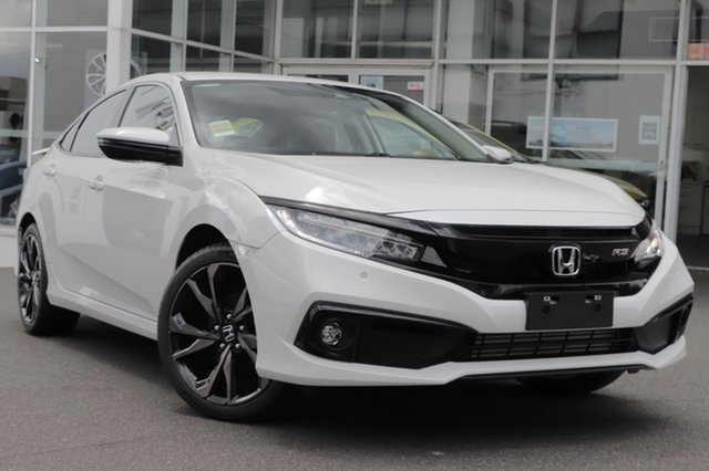 Demo Honda Civic MY20 RS Indooroopilly, 2020 Honda Civic MY20 RS Platinum White Automatic Sedan