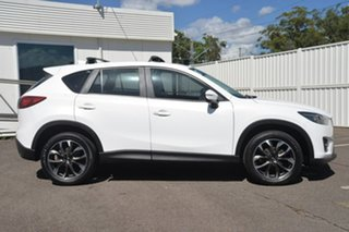 2015 Mazda CX-5 KE1032 Grand Touring SKYACTIV-Drive AWD White 6 Speed Sports Automatic Wagon.