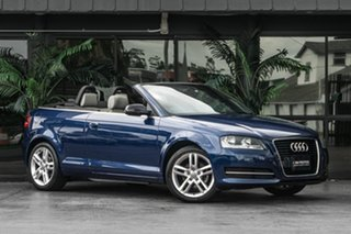 2011 Audi A3 8P MY12 Ambition S Tronic Blue 6 Speed Sports Automatic Dual Clutch Convertible.