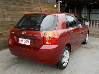 2006 Toyota Corolla ZZE122R 5Y Ascent Red 5 Speed Manual Hatchback.
