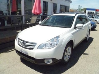 2009 Subaru Outback B5A MY10 2.5i AWD Premium White 6 Speed Manual Wagon