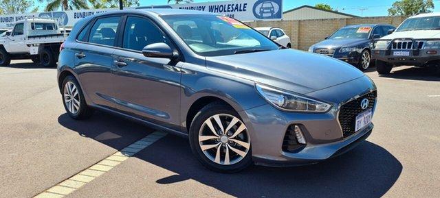 Used Hyundai i30 PD MY18 Active East Bunbury, 2017 Hyundai i30 PD MY18 Active Grey 6 Speed Sports Automatic Hatchback