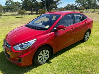 2016 Hyundai Accent RB3 MY16 Active Veloster Red 6 Speed Constant Variable Sedan