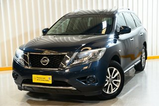 2016 Nissan Pathfinder R52 MY15 ST (4x4) Blue Continuous Variable Wagon.