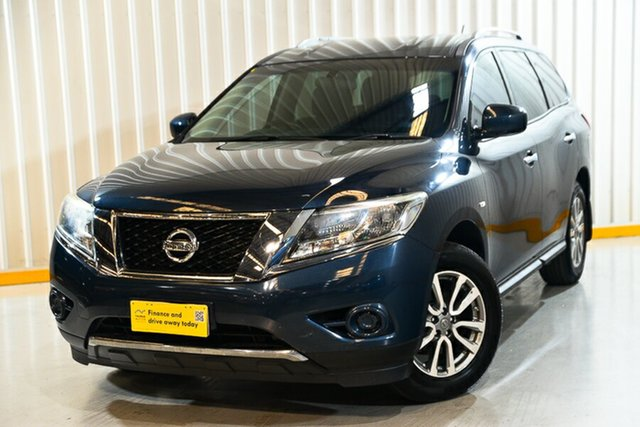 Used Nissan Pathfinder R52 MY15 ST (4x4) Hendra, 2016 Nissan Pathfinder R52 MY15 ST (4x4) Blue Continuous Variable Wagon