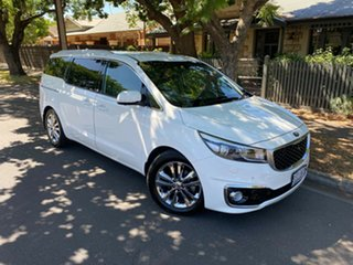 2015 Kia Carnival YP MY16 Platinum White 6 Speed Sports Automatic Wagon.