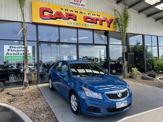 2012 Holden Cruze JH MY12 CD Blue 6 Speed Automatic Sedan.