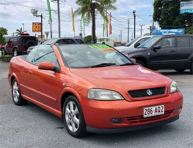 Used Holden Astra TS Archerfield, 2004 Holden Astra TS Orange 4 Speed Automatic Convertible