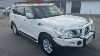 2014 Nissan Patrol Y62 ST-L White 7 Speed Sports Automatic Wagon.