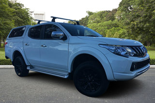 2017 Mitsubishi Triton MQ MY18 GLS Double Cab White 5 Speed Sports Automatic Utility.