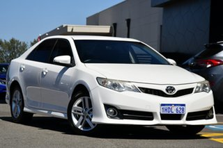 2012 Toyota Camry ASV50R Atara R White 6 Speed Sports Automatic Sedan.