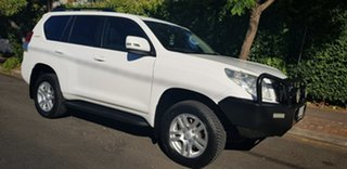2012 Toyota Landcruiser Prado KDJ150R 11 Upgrade GXL (4x4) White 6 Speed Manual Wagon.
