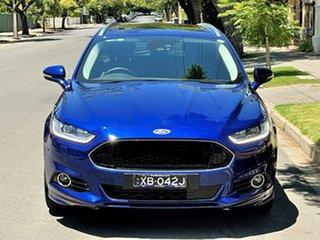 2017 Ford Mondeo MD 2018.25MY Titanium Blue 6 Speed Sports Automatic Dual Clutch Wagon.