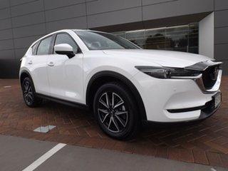 2018 Mazda CX-5 KF4W2A Akera SKYACTIV-Drive i-ACTIV AWD Snowflake White 6 Speed Sports Automatic.