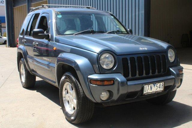 Used Jeep Cherokee KJ Limited (4x4) West Footscray, 2002 Jeep Cherokee KJ Limited (4x4) 4 Speed Automatic Wagon