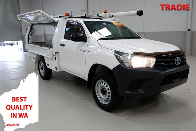 Used Toyota Hilux GUN125R Workmate Kenwick, 2017 Toyota Hilux GUN125R Workmate White 6 Speed Sports Automatic Cab Chassis