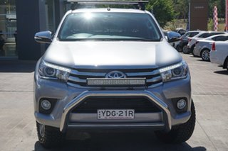 2016 Toyota Hilux GUN126R SR5 Double Cab Grey 6 Speed Manual Utility.