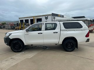 2016 Toyota Hilux GUN125R Workmate Double Cab White/030217 6 Speed Sports Automatic Utility