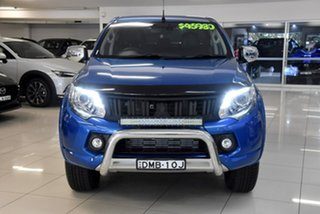 2016 Mitsubishi Triton MQ MY16 Exceed Double Cab Blue 5 Speed Sports Automatic Utility