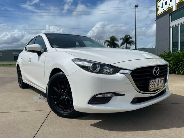 Used Mazda 3 Townsville, 2018 Mazda 3 White Automatic Hatchback