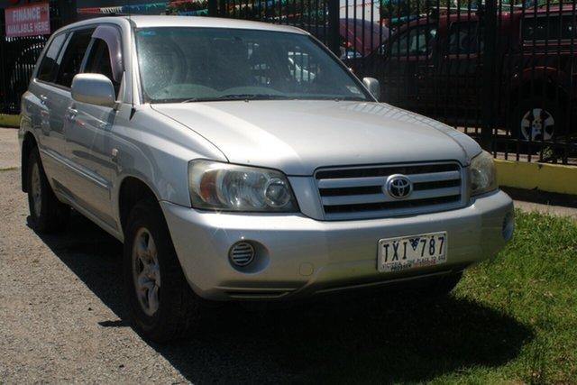 Used Toyota Kluger MCU28R CV (4x4) West Footscray, 2005 Toyota Kluger MCU28R CV (4x4) Silver 5 Speed Automatic Wagon