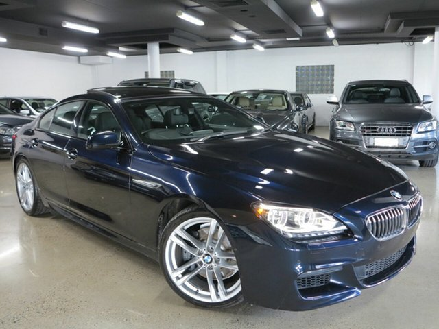 Used BMW 6 Series F06 MY1112 640i Gran Coupe Steptronic Albion, 2013 BMW 6 Series F06 MY1112 640i Gran Coupe Steptronic Black 8 Speed Sports Automatic Sedan