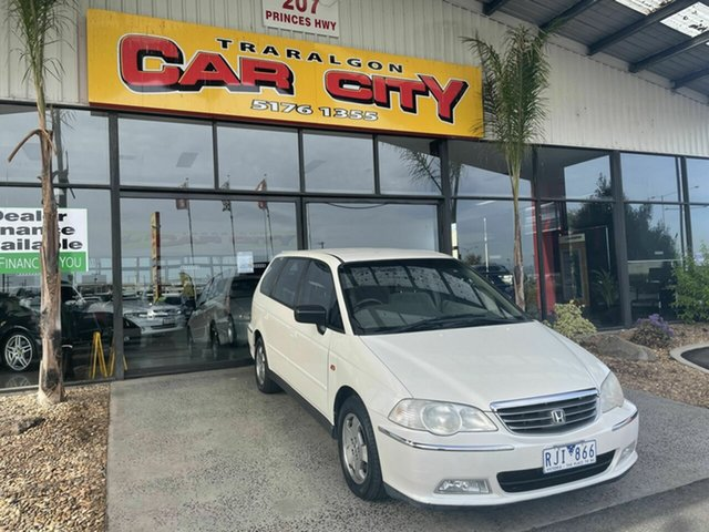 Used Honda Odyssey V6L (6 Seat) Traralgon, 2001 Honda Odyssey V6L (6 Seat) White 5 Speed Sequential Auto Wagon